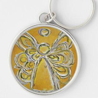 Yellow Angel Wings Keychain