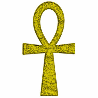 Yellow Ankh Photo Sculpture