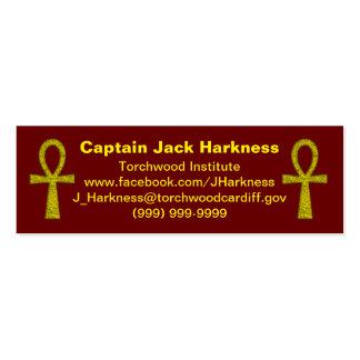 Yellow Ankh Profile Card Mini Business Card