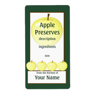 Yellow Apple Preserves Label Shipping Label