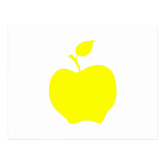 Yellow Apple Shape Postcard