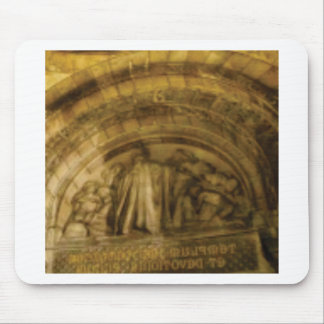 yellow arch stonework mouse pad