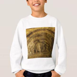 yellow arch stonework sweatshirt