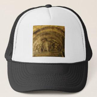 yellow arch stonework trucker hat