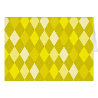 Yellow argyle pattern card