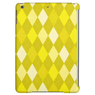 Yellow argyle pattern iPad air cases