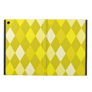 Yellow argyle pattern iPad air cover