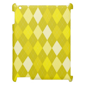 Yellow argyle pattern iPad cases