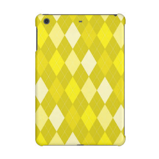 Yellow argyle pattern iPad mini covers