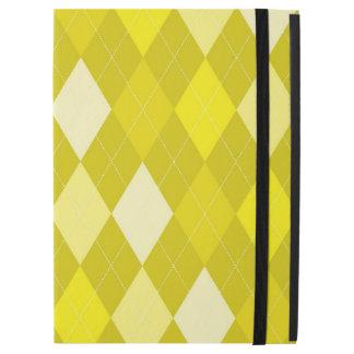 "Yellow argyle pattern iPad pro 12.9"" case"
