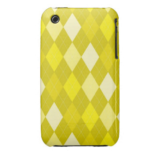Yellow argyle pattern iPhone 3 Case-Mate cases