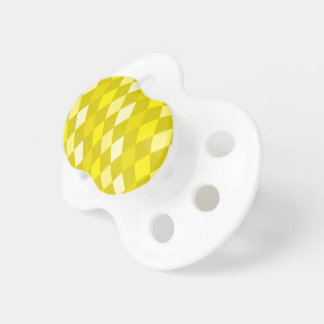 Yellow argyle pattern pacifiers