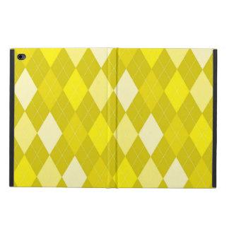 Yellow argyle pattern powis iPad air 2 case