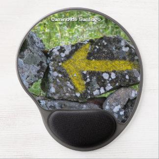 Yellow Arrow Gel Mousepad