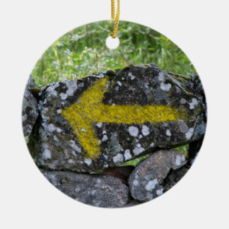 Yellow Arrow on Fence Ornament