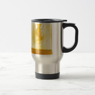 Yellow Art Deco glass statue of a dancer. Travel Mug