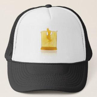 Yellow Art Deco glass statue of a dancer. Trucker Hat