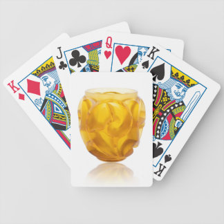 Yellow Art Deco Swirl Vase Bicycle Playing Cards