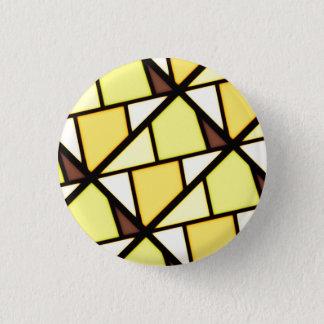 Yellow art design 1 inch round button