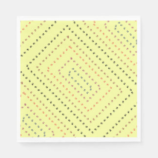 Yellow art design disposable napkin