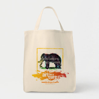 """Yellow """"Art for a Cure"""" Tote  $20.95"""