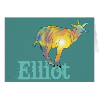 Yellow Art Goat on Things, Design Add Your Name Card