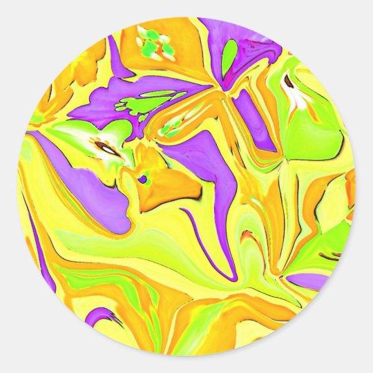 Yellow art scrapbooking sticker