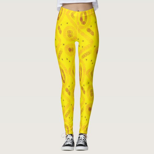 Yellow arty design leggings