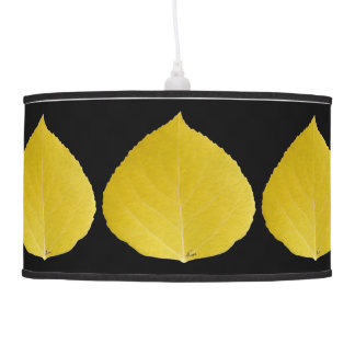Yellow Aspen Leaf #5 Pendant Lamp