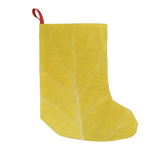 Yellow Aspen Leaf #5 Small Christmas Stocking