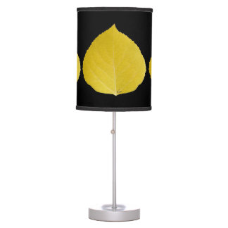 Yellow Aspen Leaf #5 Table Lamp