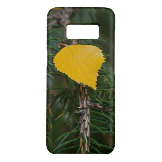 Yellow Aspen Leave on Evergreen Branch Photograph Case-Mate Samsung Galaxy S8 Case