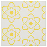 Yellow Atom Symbol Fabric