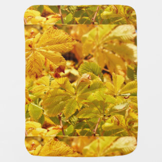 Yellow autumn color love baby blanket