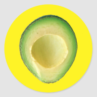 Yellow Avocado Fiesta 4Harvey Round Sticker