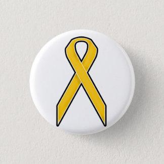 Yellow Awareness Ribbon 1 Inch Round Button