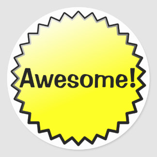 Yellow Awesome Award Stickers