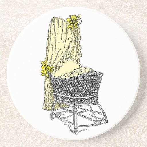 Yellow Baby Bassinet Coaster