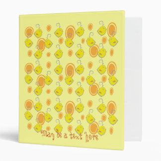 yellow baby bird binder