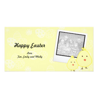 Yellow Baby Chick Easter Photo Cards