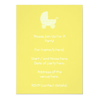 Yellow Baby Stroller. Card