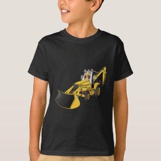Yellow Backhoe Cartoon T-Shirt