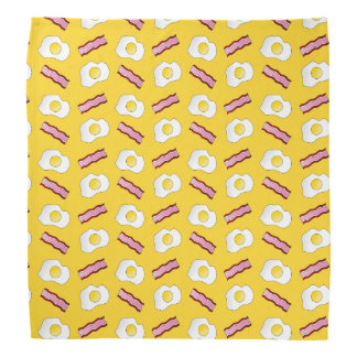 Yellow bacon and eggs bandanas