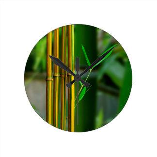 Yellow Bamboo Wallclock