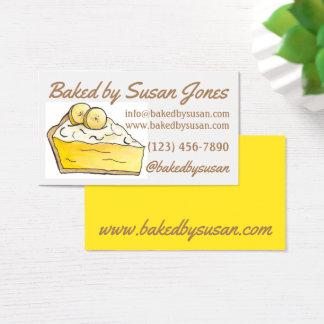 Yellow Banana Cream Pie Bakery Baked By Dessert Business Card
