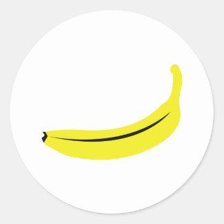 yellow banana fruit round sticker