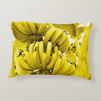 Yellow Bananas Decorative Pillow