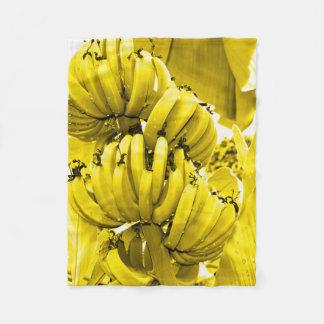 Yellow Bananas Fleece Blanket