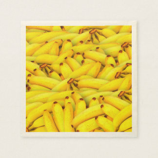 Yellow Bananas fruit pattern Disposable Napkin