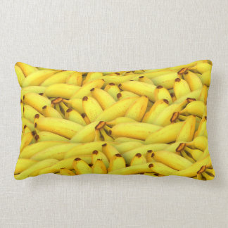 Yellow Bananas fruit pattern Lumbar Pillow